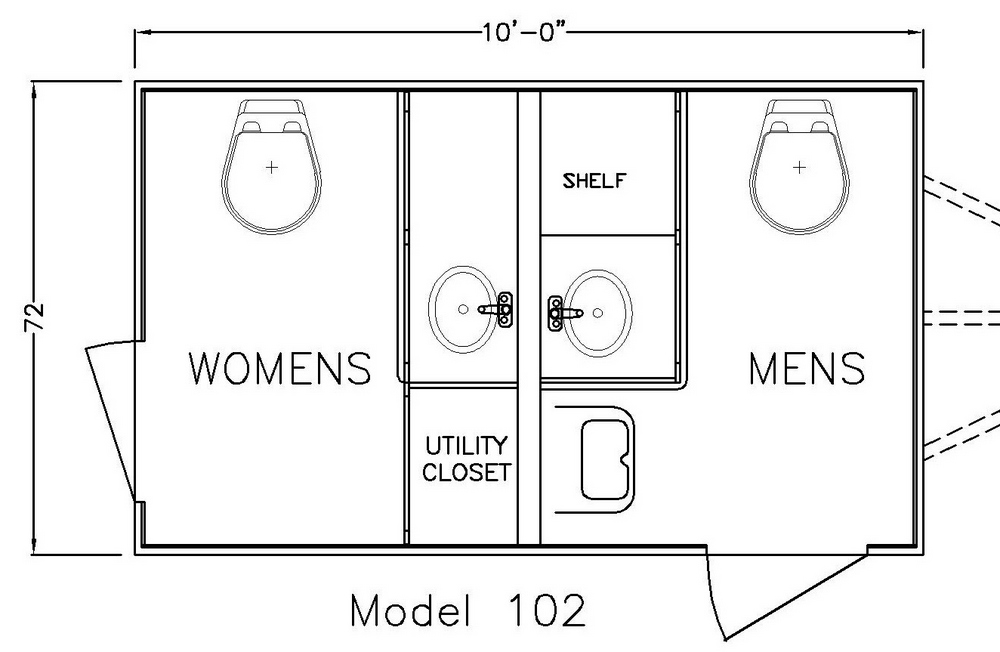Chalet 102 A Restroom Trailer Company